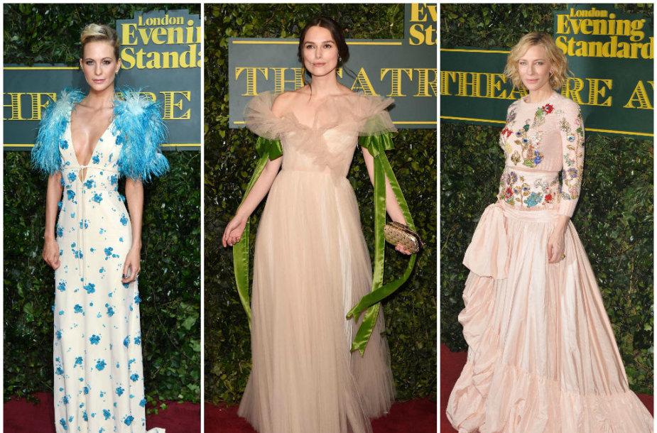 Poppy Delevingne, Keira Knightley ir Cate Blanchett