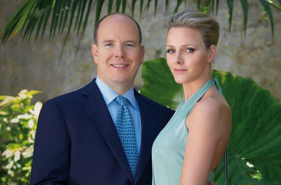 Monako princas Albertas II ir princesė Charlene