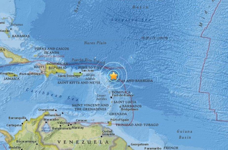 Žemės drebėjimas prie Antigvos ir Barbudos