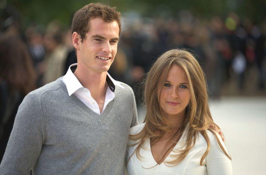 Andy Murray ir Kim Sears 2012-aisiais