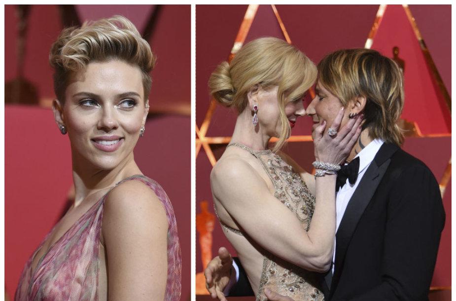 Scarlett Johansson ir Nicole Kidman su Keithu Urbanu