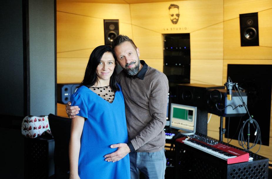 Linas Adomaitis su žmona Irma Adomaitiene