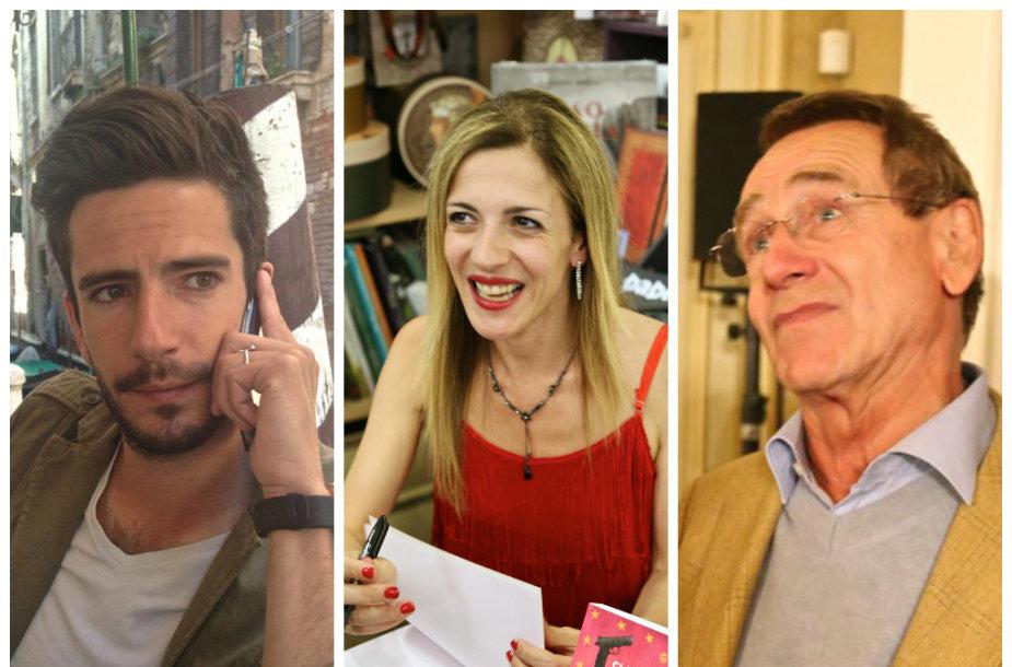 Aušros Dargytės kalbinti prancūzai: fotografas Pierre'as, rašytoja Claire Barre, buvęs europarlamentaras Jean Marcas Brissaud