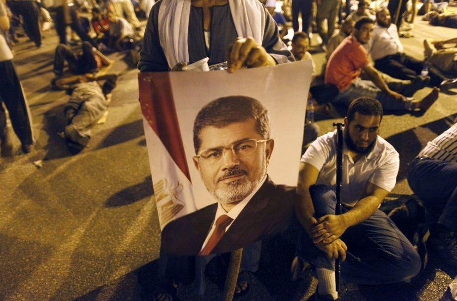 Nuversto Egipto prezidento Mohammedo Morsi rėmėjai