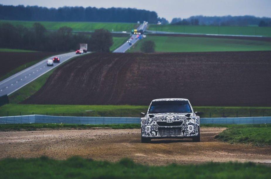 """""""Škoda Fabia"""" WRX testuose Belgijoje"""