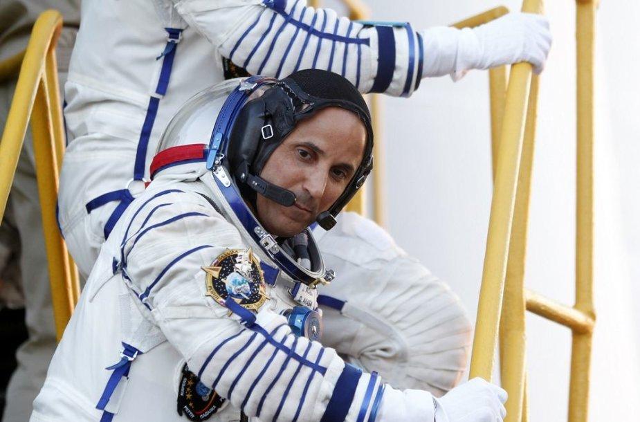 JAV astronautas Josephas Acaba