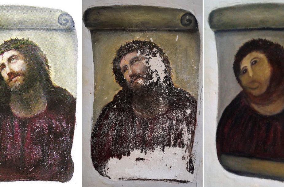Nepavykusi XIX a. freskos restauracija