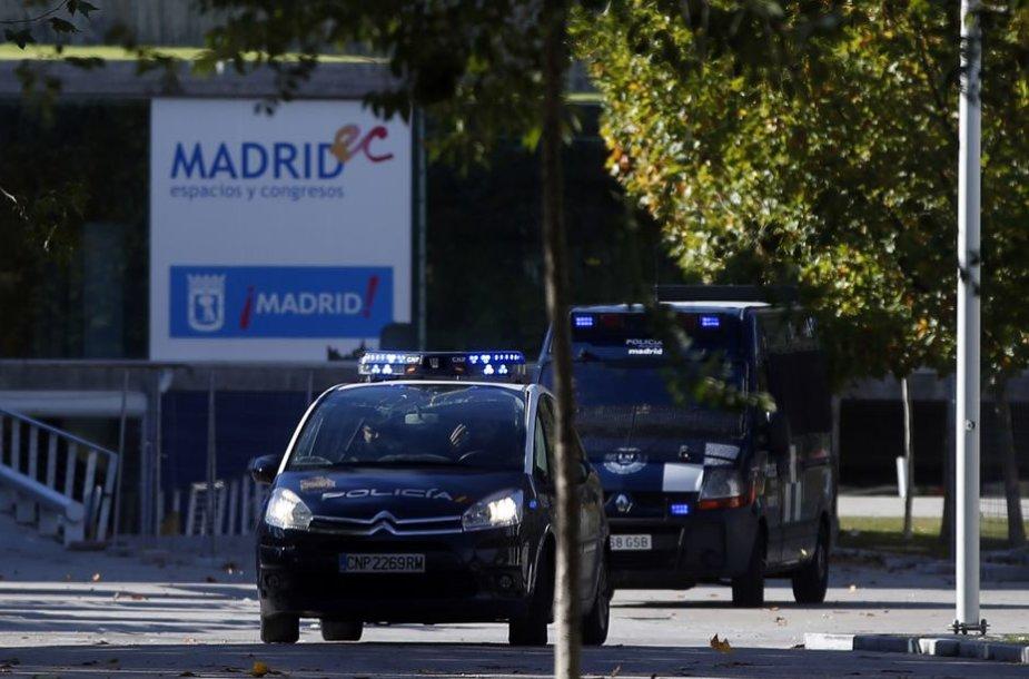 Ispanijos policija įvykio vietoje