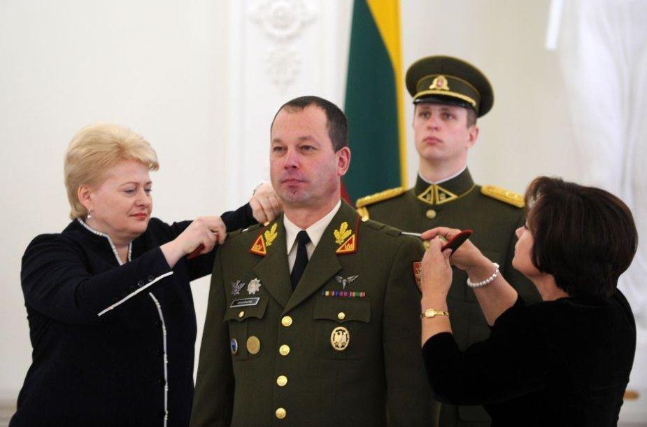 Prezidentūroje Vilmantui Tamošaičiui suteiktas brigados generolo laipsnis