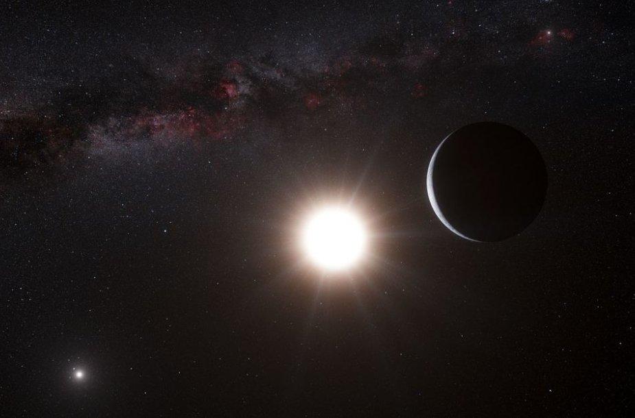 Kaimyninė Kentauro alfa B turi Žemės dydžio planetą.