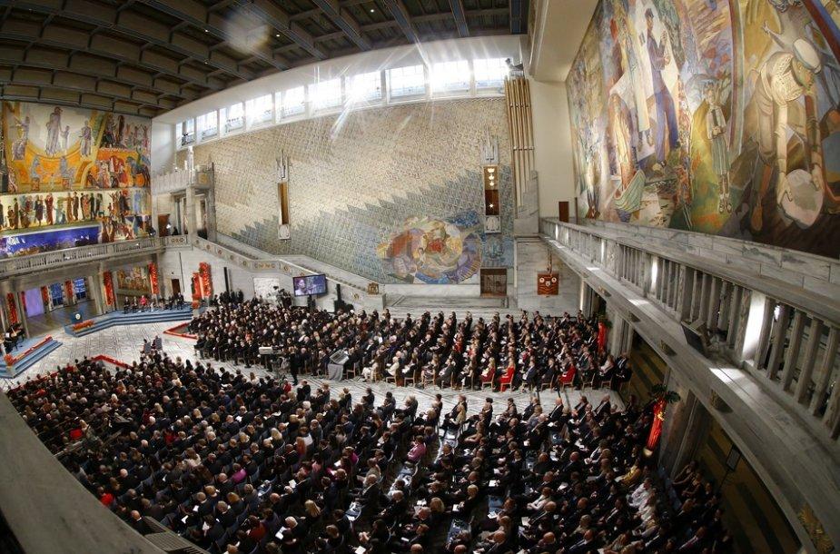 Nobelio taikos premijos įteikimo ceremonija