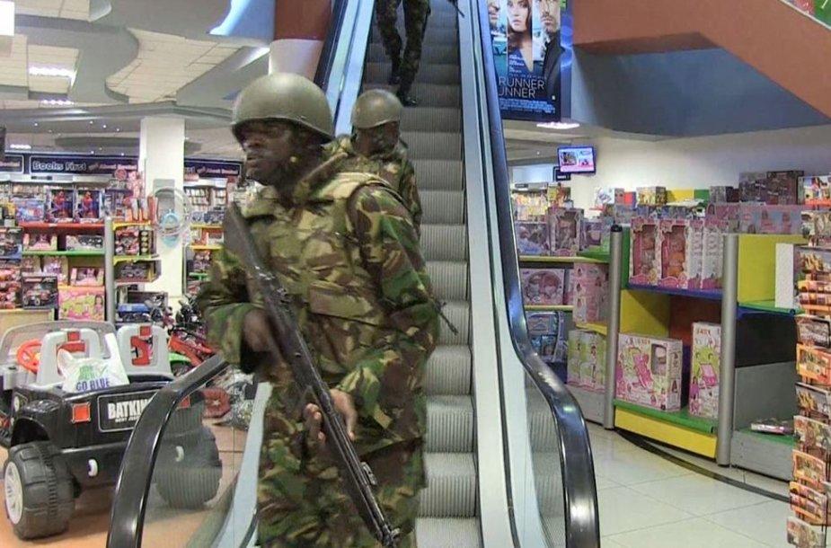 Kenijos kariai prekybos centre