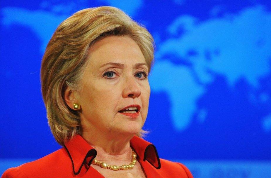 14 vieta – JAV valstybės sekretorė Hillary Clinton