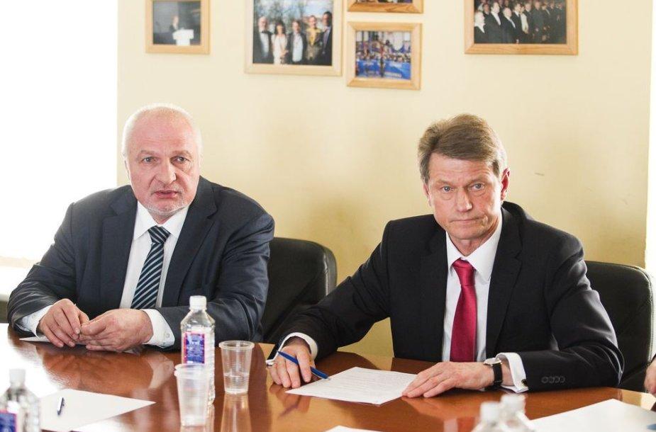 Valentinas Mazuronis ir Rolandas Paksas