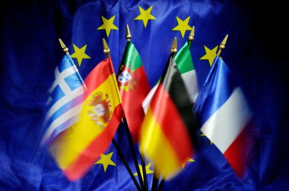 ES valstybių narių vėliavos