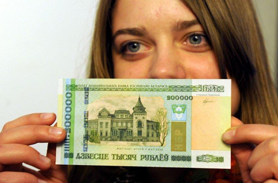Naujasis 200 tūkst. Baltarusijos rublių banknotas