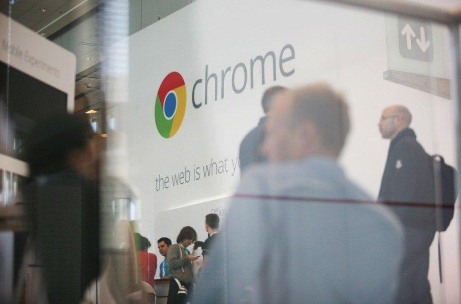"""Interneto naršyklės """"Google Chrome"""" logotipas"""