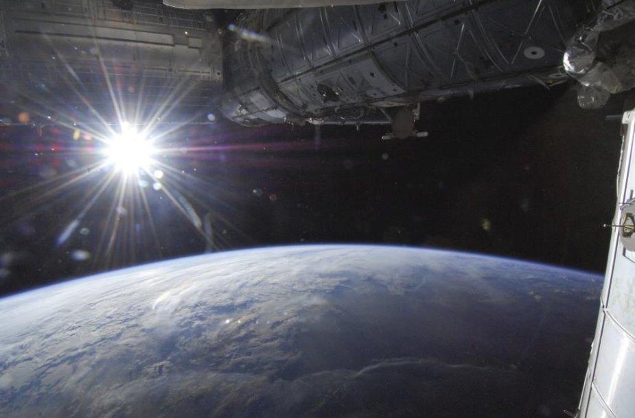 Žemė nufotografuota iš Tarptautinės kosminės stoties