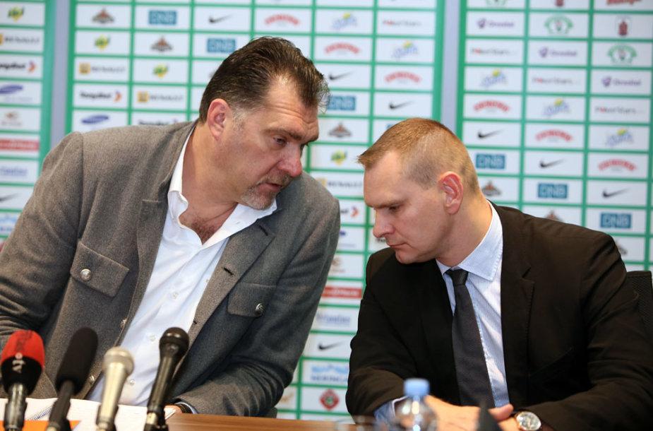 Arvydas Sabonis ir Mindaugas Špokas