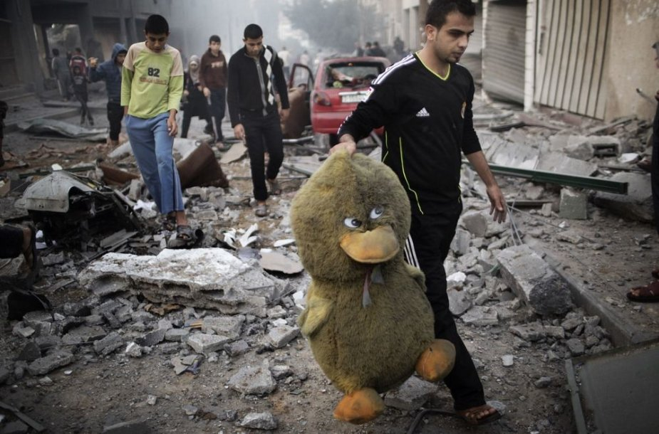 Gazos Ruožas po Izraelio oro atakos