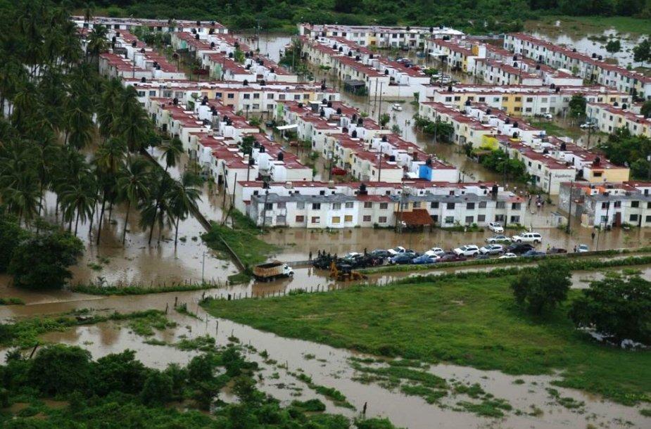 Potvynis Akapulke