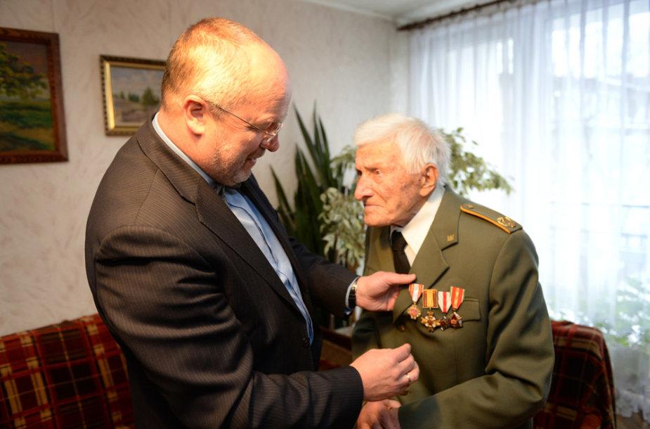 Augustas Bernadišius ir Juozas Olekas