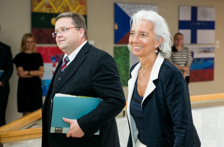 Vitas Vasiliauskas ir Christine Lagarde