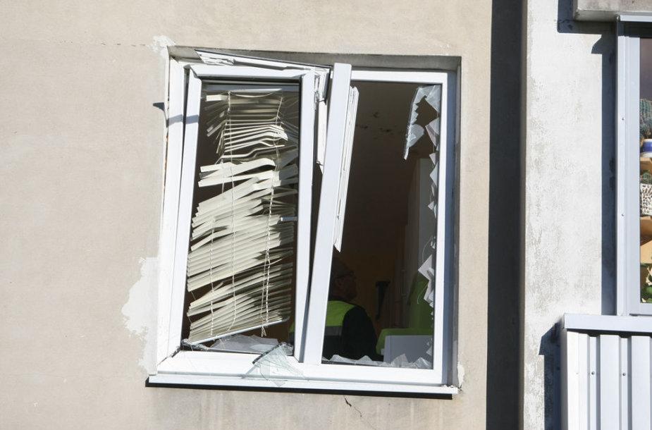 Vilniuje, Žemaitės g. 7, bute, įvyko sprogimas