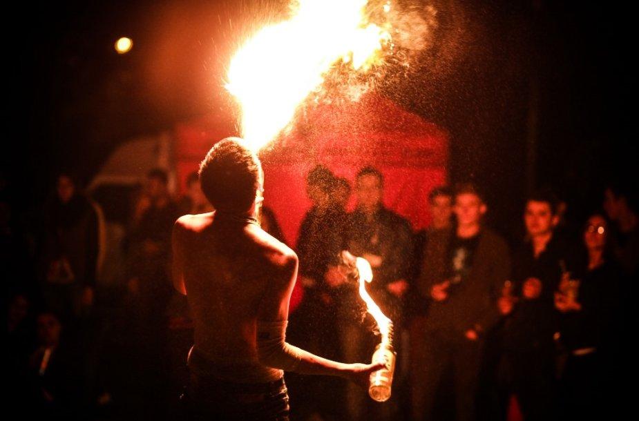 """""""Gedimino dienos 2014"""" Bazaras, ugnies šou, Ignoto Asadausko nuotr."""