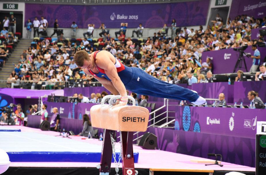 Gimnastas Rokas Guščinas Europos žaidynėse