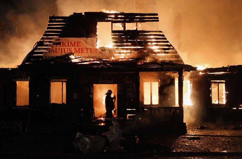 """Restorano """"Bajorkiemis"""" gaisras"""
