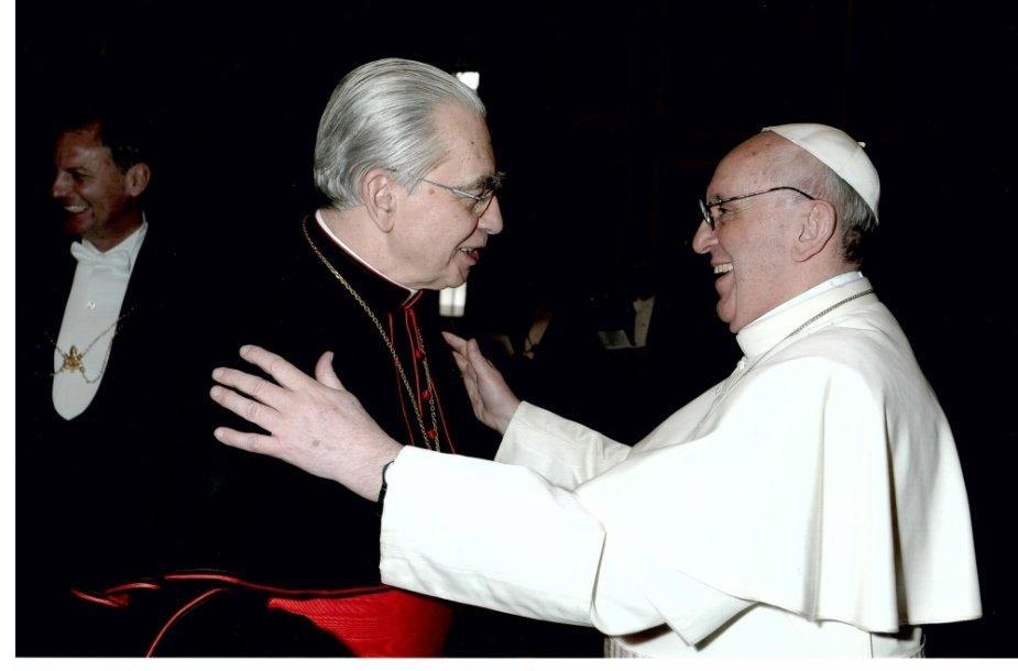A.J.Bačkio ir popiežiaus Pranciškaus susitikimas