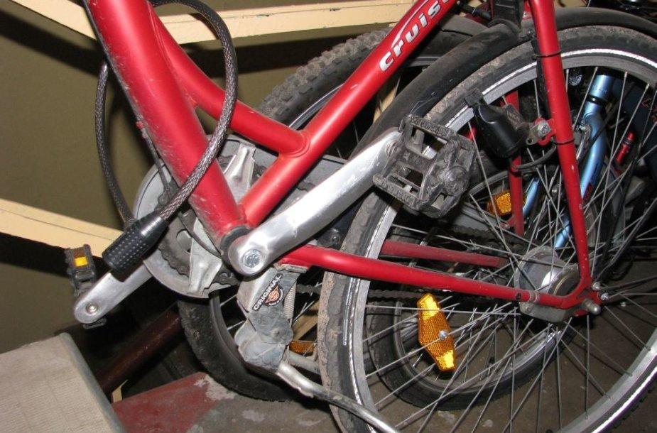 Prirakintas dviratis
