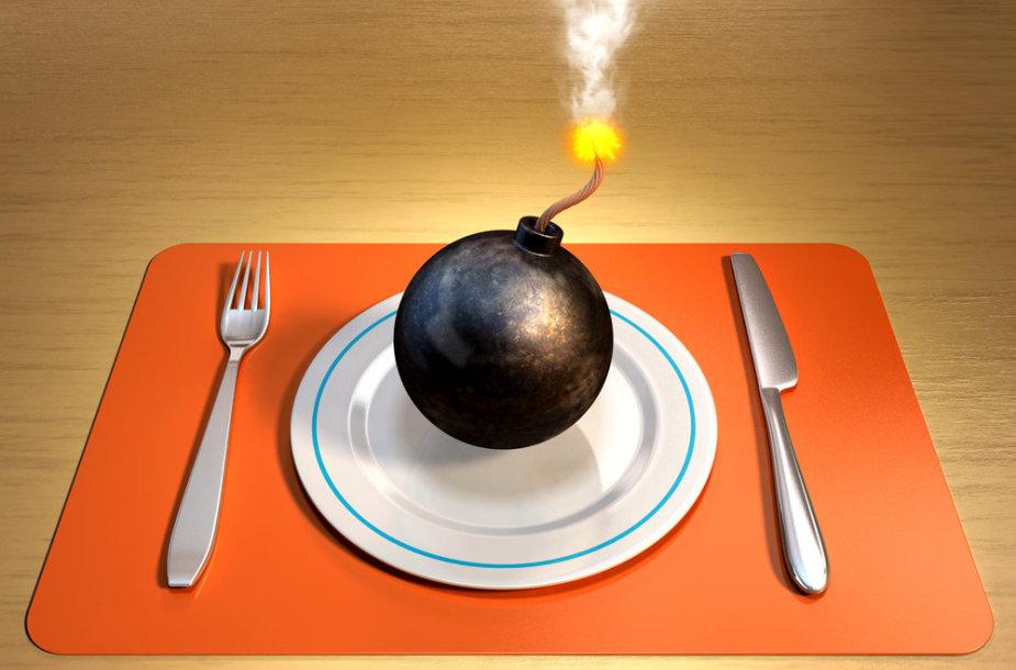 Nekalti užkandžiai, sukeliantys gaisrą jūsų skrandyje