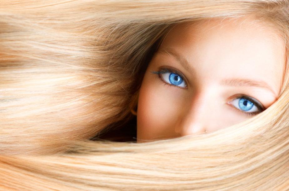 Žvilgantys plaukai