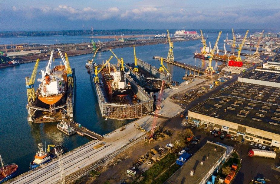 """Planuojama rekonstruoti krantines laivams remontuoti. Po rekonstrukcijos bus galima priimti remontui """"Panamax"""" dydžio laivus."""