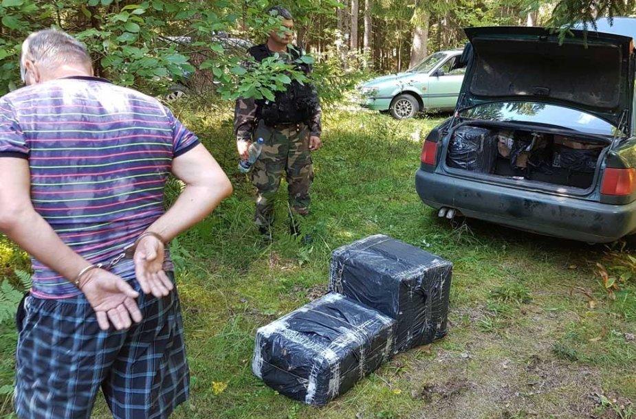 Ignalinos rajone sulaikyti kontrabandininkai