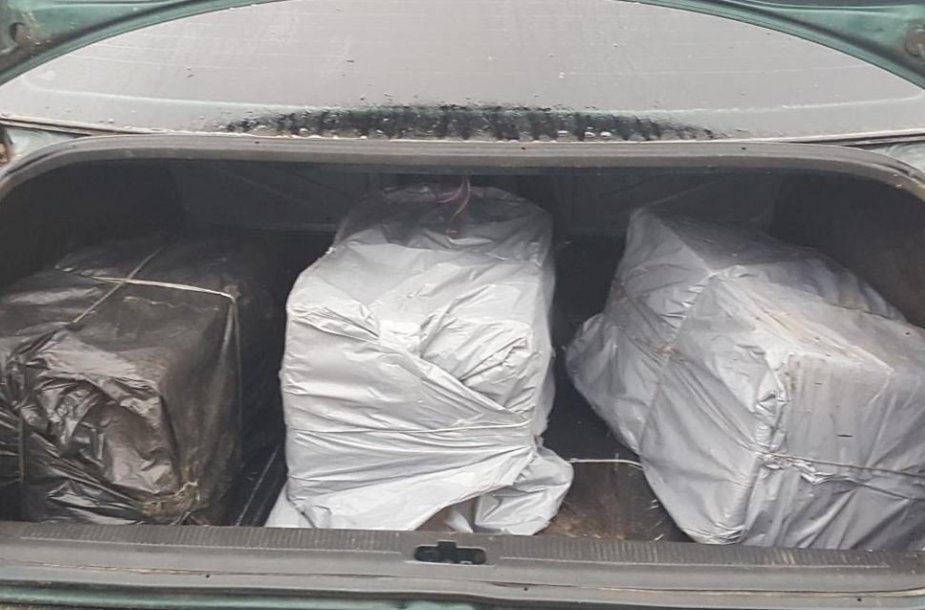 Kontrabandos pilna bagažinė