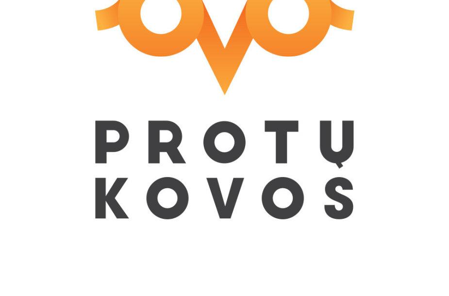 """""""Protų kovos"""" logotipas"""