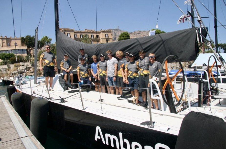 """Ambersail2"" komanda prieš treniruotę"