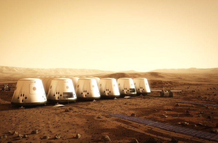 Kaip galėtų atrodyti kolonija Marse