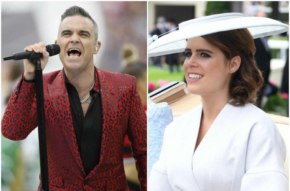 Robbie Williamsas ir princesė Eugenie