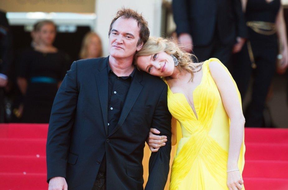Uma Thurman ir Quentinas Tarantino
