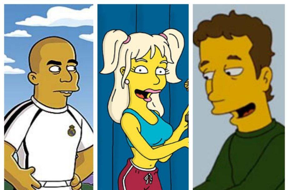 """Seriale """"Simpsonai"""": pasirodžiusios įžymybės"""