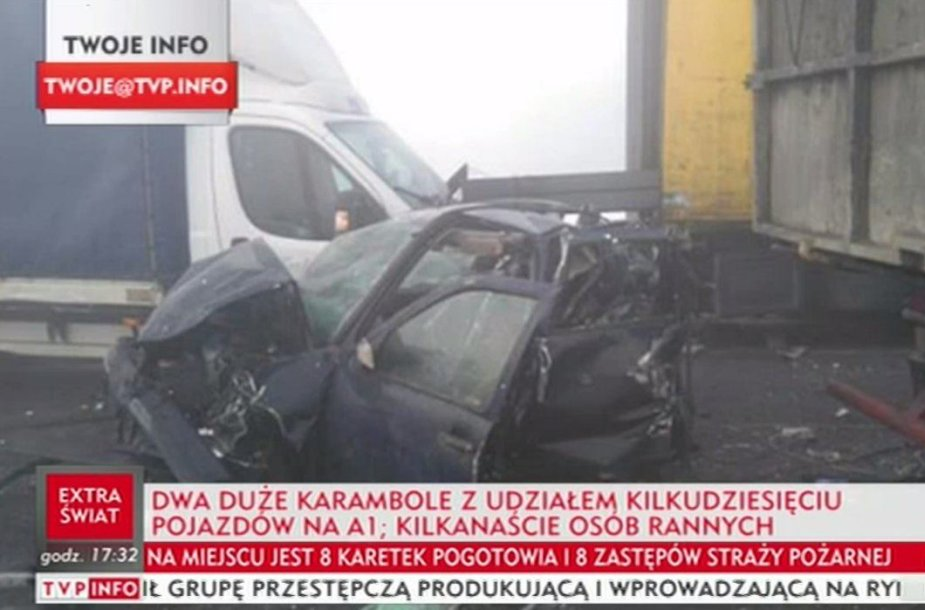 Masinė avarija Lenkijoje