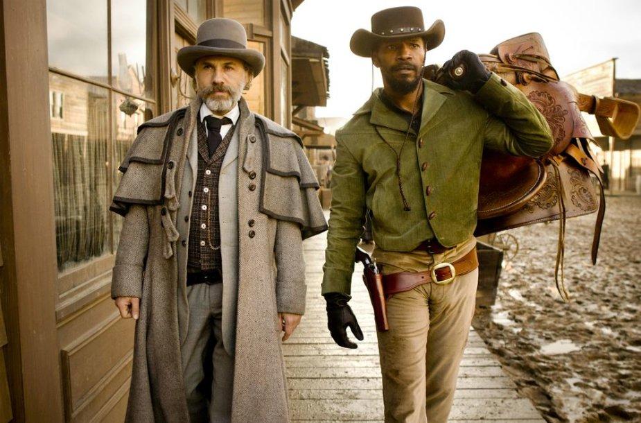 """Christophas Waltzas ir Jamie Foxxas filme """"Ištrūkęs Džango"""""""