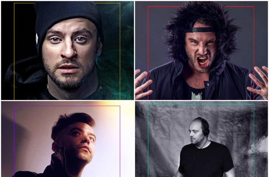 """Elektroninės muzikos festivalyje """"Revolution Festival"""" koncertuosiantys atlikėjai"""