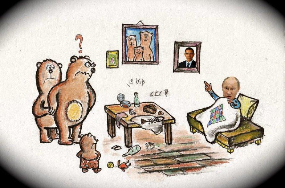 V.Putinas rusų pasakose