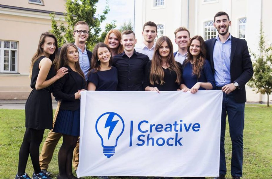"""Tarptautinis socialinių verslo situacijų konkursas studentams """"Creative Shock"""" sugrįžta!"""