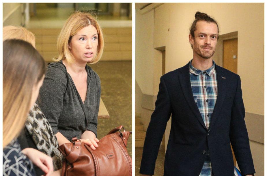 Gintarė Karaliūnaitė-Canuel ir Marcas Andre Canuelis teisme